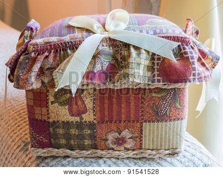 Closed Sewing Textile Box