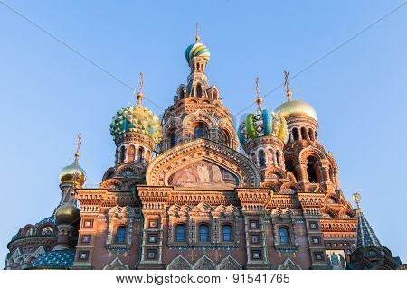 Church Of The Saviour On Spilled Blood In St. Petersburg