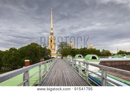 View Of The Peter And Paul Cathedral, St. Petersburg