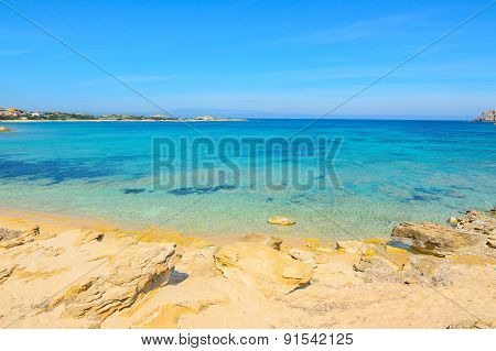 Turquoise Water In Capo Testa