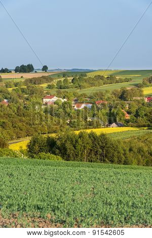 Small Village On Countryside In Poland