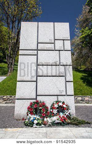 Memorial At Village Kaliste, Slovakia