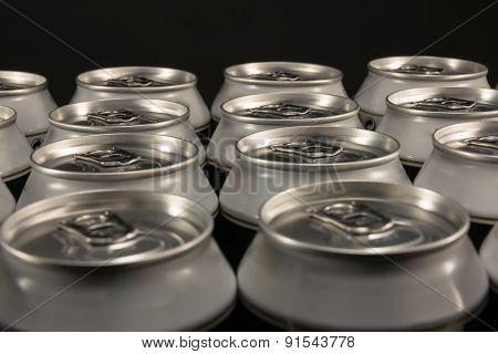 Group Of Aluminum Beverage Cans
