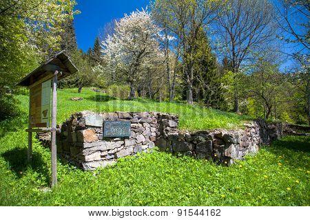 Ruins Of House At Kaliste, Slovakia