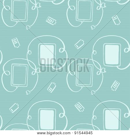 seamless pattern tablet with plug