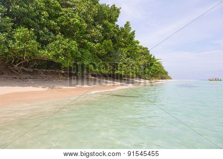 Beach on island, Panama