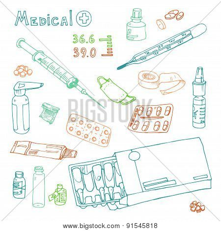 vector Illustration pills