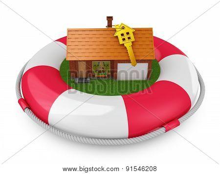 Cozy House On Lifebuoys