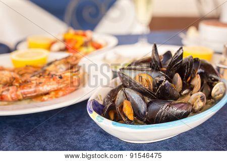 Italian Cuisine. Zuppa Di Cozzi