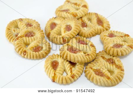 Tea Biscuits Filled With Apricot Jam