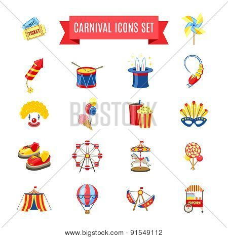 Carnival Icons Set