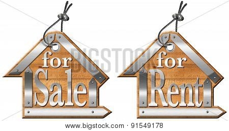House Labels For Sale And For Rent
