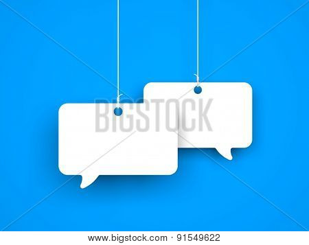 Speech bubble on the string