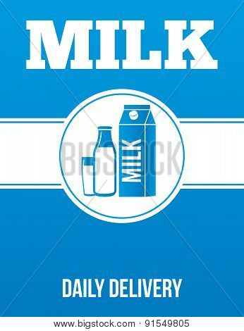 Milk Delivery Advertising Poster.