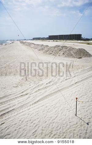 Cleaned Sand along the Gulf Coast