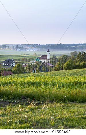 Small Village On Polish Countryside