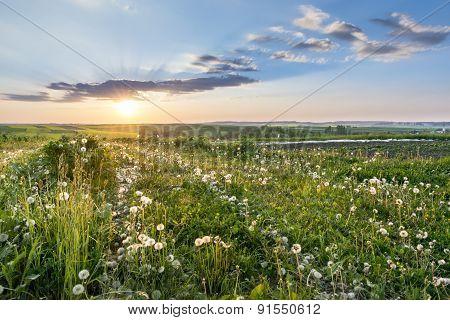 Sundown Over Polish Countryside