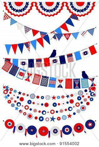 Set American decorations