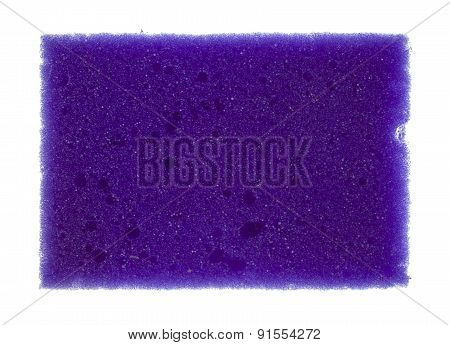 Purple Sponge For Washing Dishes Isolated On White