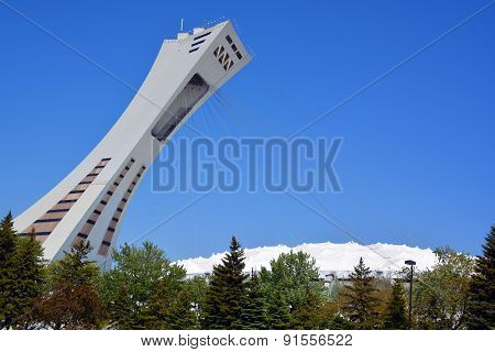 The Montreal Olympic Stadium and towe