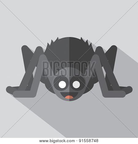 Flat Design Spider Icon.