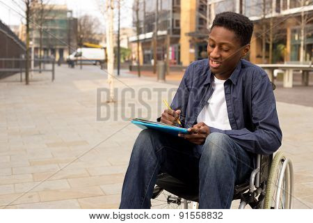 wheelchair student