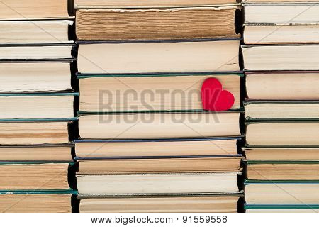 Paper Heart Among Books
