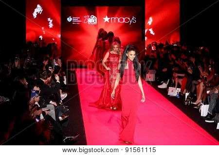 NEW YORK-FEB 12: Singer Ciara walks the runway at Go Red for Women-The Heart Truth Red Dress Collection at Mercedes-Benz Fashion Week at Lincoln Center on February 12, 2014 in New York City.