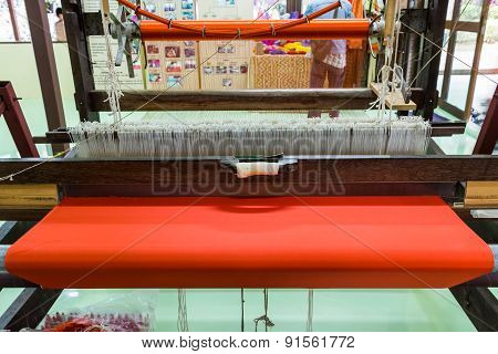 Loom For Weaving Silk.