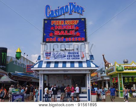 Casino Pier at Seaside Heights at Jersey Shore in New Jersey