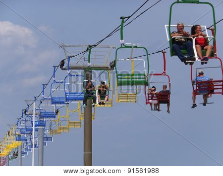 Sky Ride at Seaside Height at Jersey Shore in New Jersey