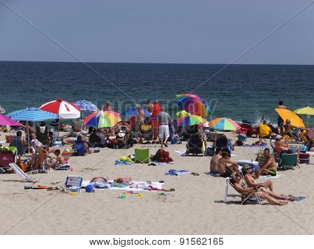 Beach at Seaside Heights at Jersey Shore in New Jersey