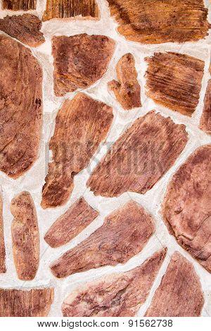 Random Brown Stone Wall