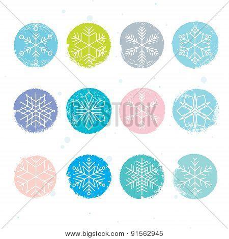 Colorful Snowflake Set