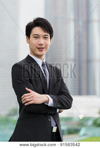 Confident Hong Kong businessman