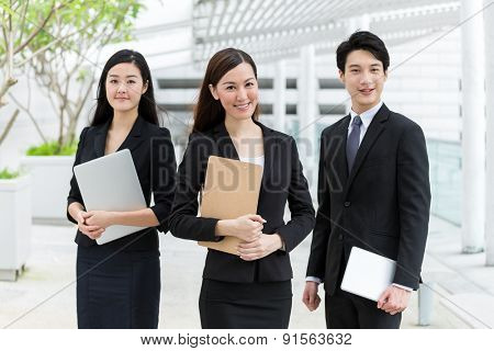 Group of business team mate