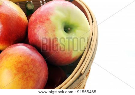 Basket With Different Fruits