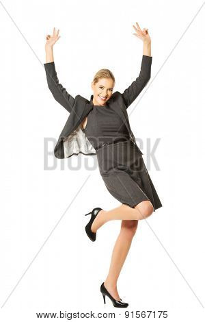 Picture of a cheerful businesswoman