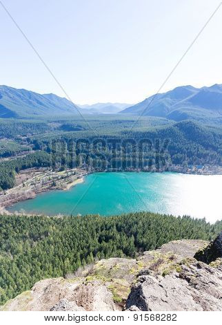 Rewarding View Of  Snoqualmie Washington Rattlesnake Ledge Trail