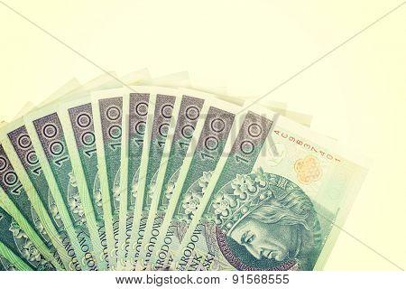 A lot of closeup polish money