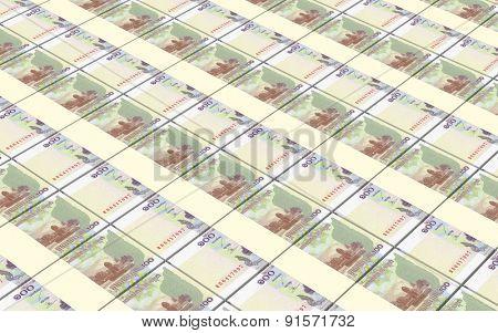 Cambodian money bills stacks background.
