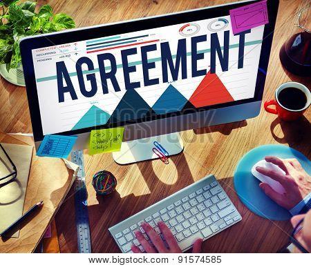 Agreement Partnership Solution Team Building Concept