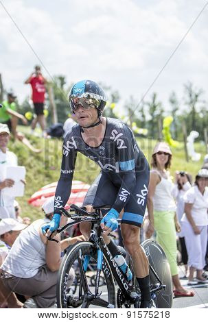 The Cyclist Vasili Kiryienka - Tour De France 2014