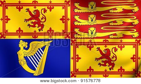Royal Standard Of United Kingdom In Scotland