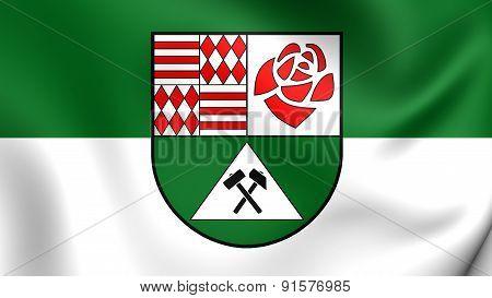 3D Flag Of Mansfeld-sudharz, Germany.