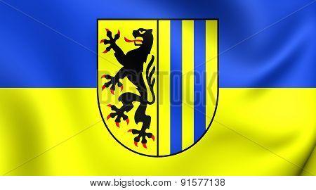 Flag Of Leipzig, Germany.