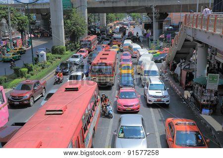 Thailand Bangkok trafic jam