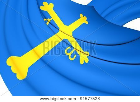 Principality Of Asturias Flag, Spain.