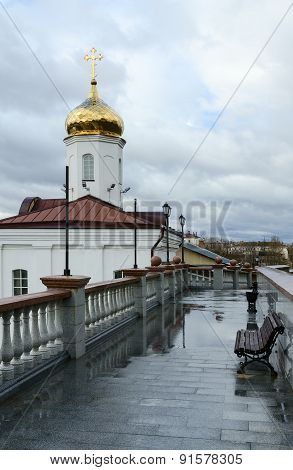 Holy Spirit Female Monastery And Stairs To Uspenskaya Hill, Vitebsk