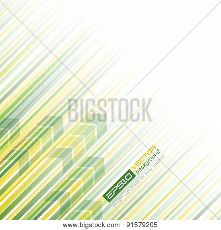 Abstract vector background with lines and arrows